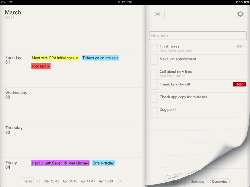 Planner For Ipad Weekly Calendar And Tasks